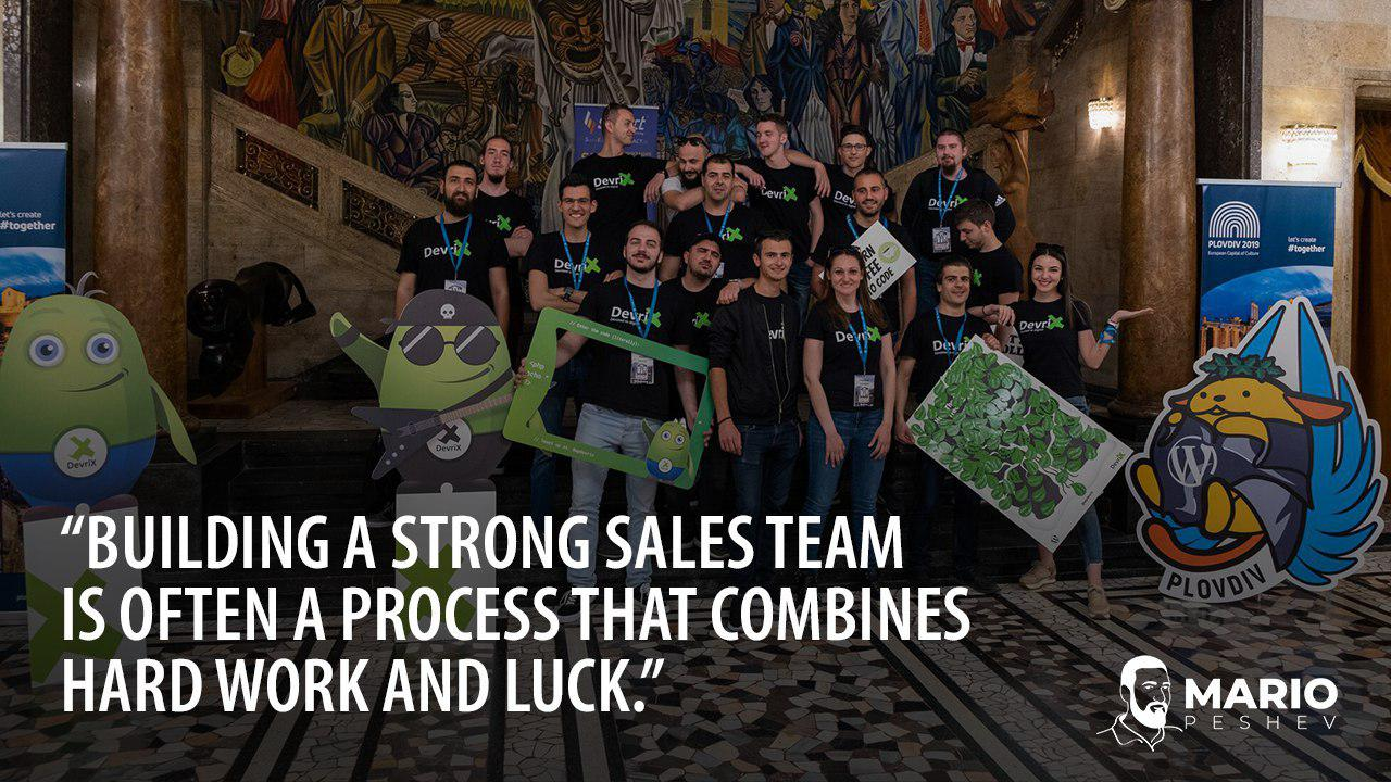 build a strong sales team
